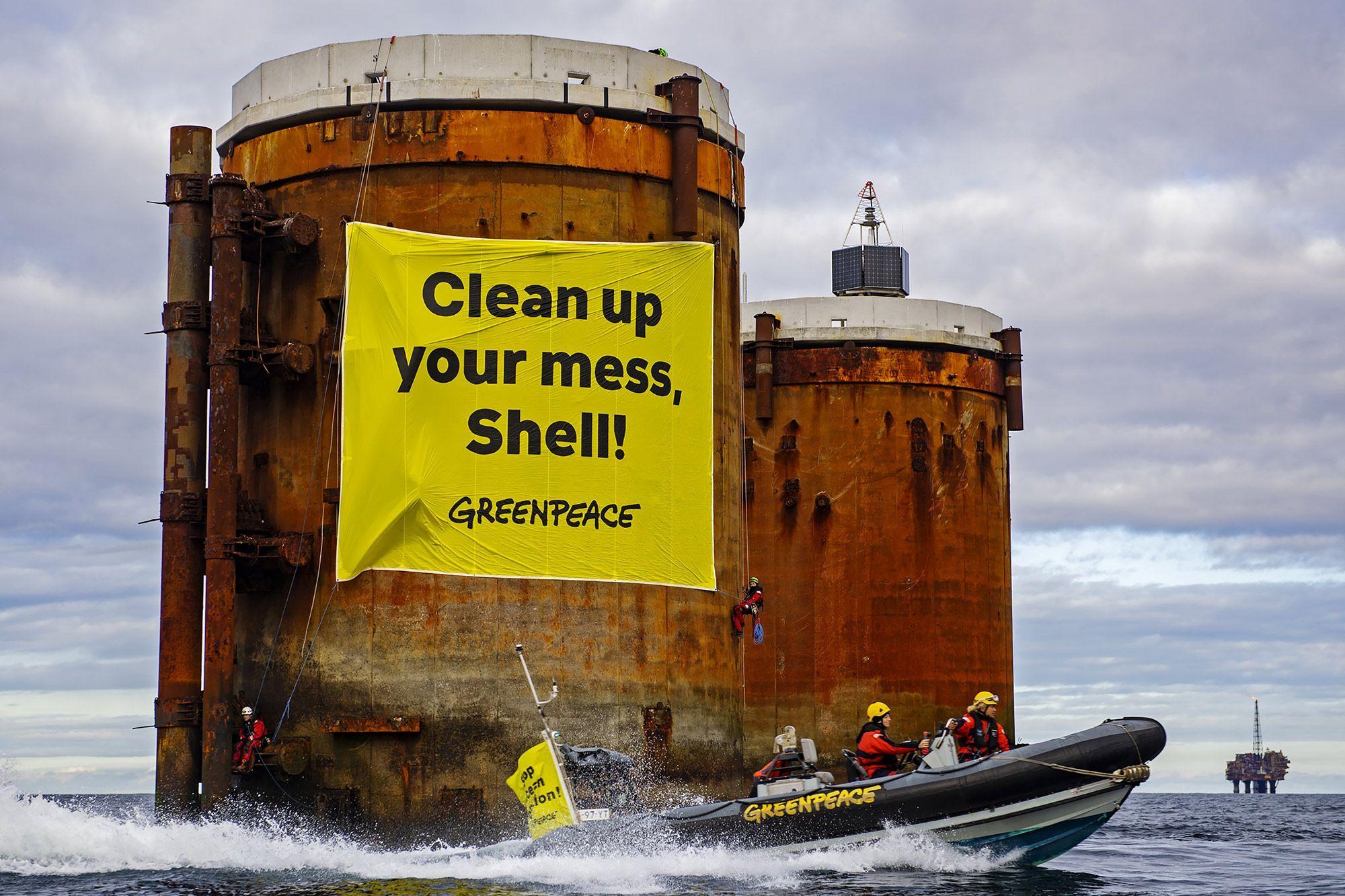 Greenpeace se paie le groupe pétrolier Shell