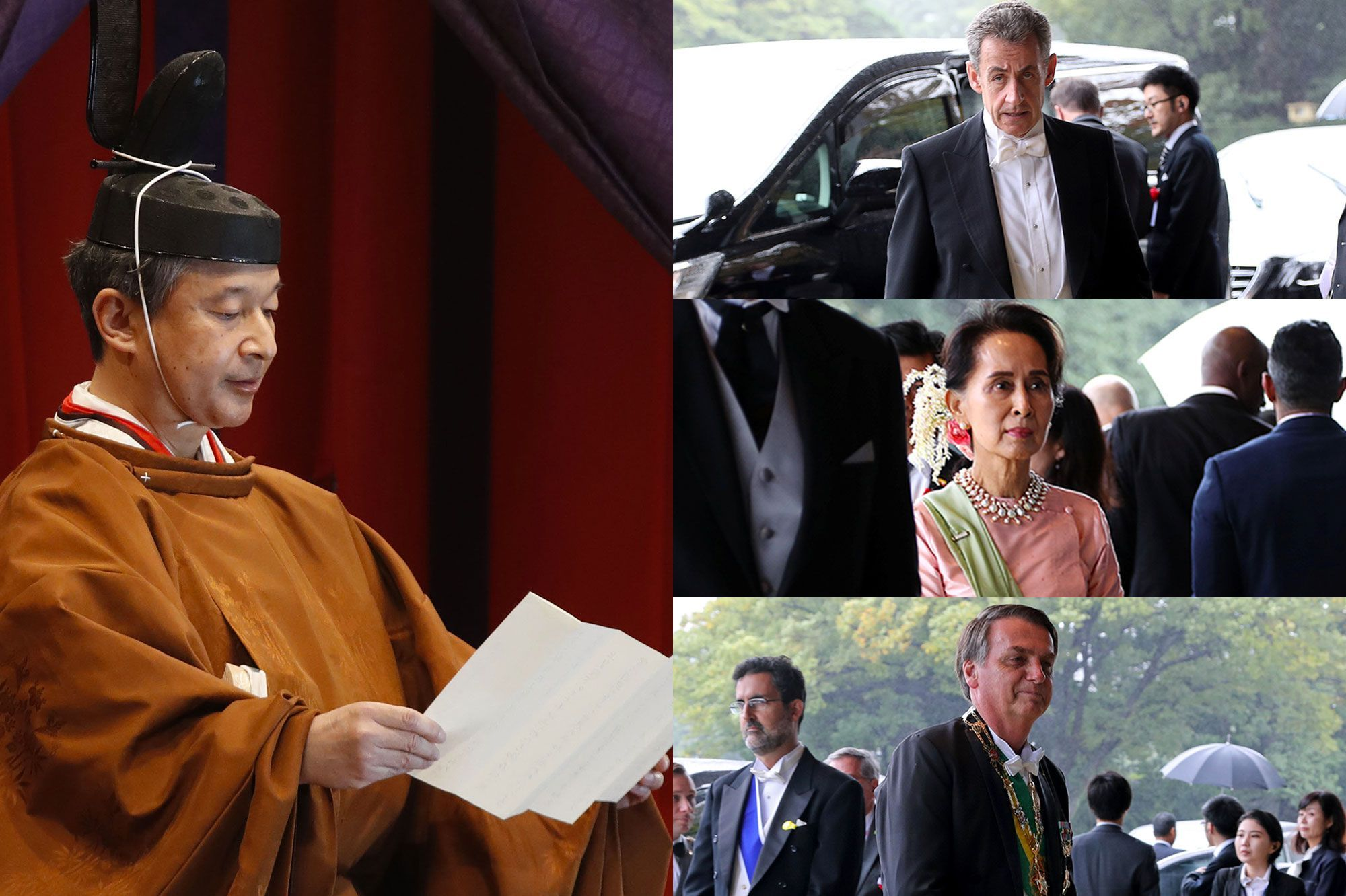Nicolas Sarkozy, Jair Bolsonaro...le monde politique à l'intronisation de l'empereur Naruhito