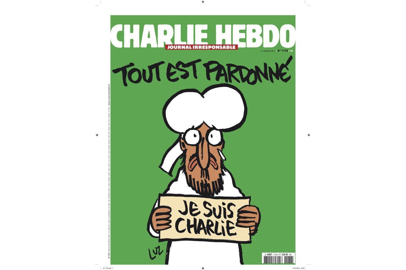 Un Numero Tire A 3 Millions D Exemplaires Une De Charlie Hebdo Mahomet Est Charlie