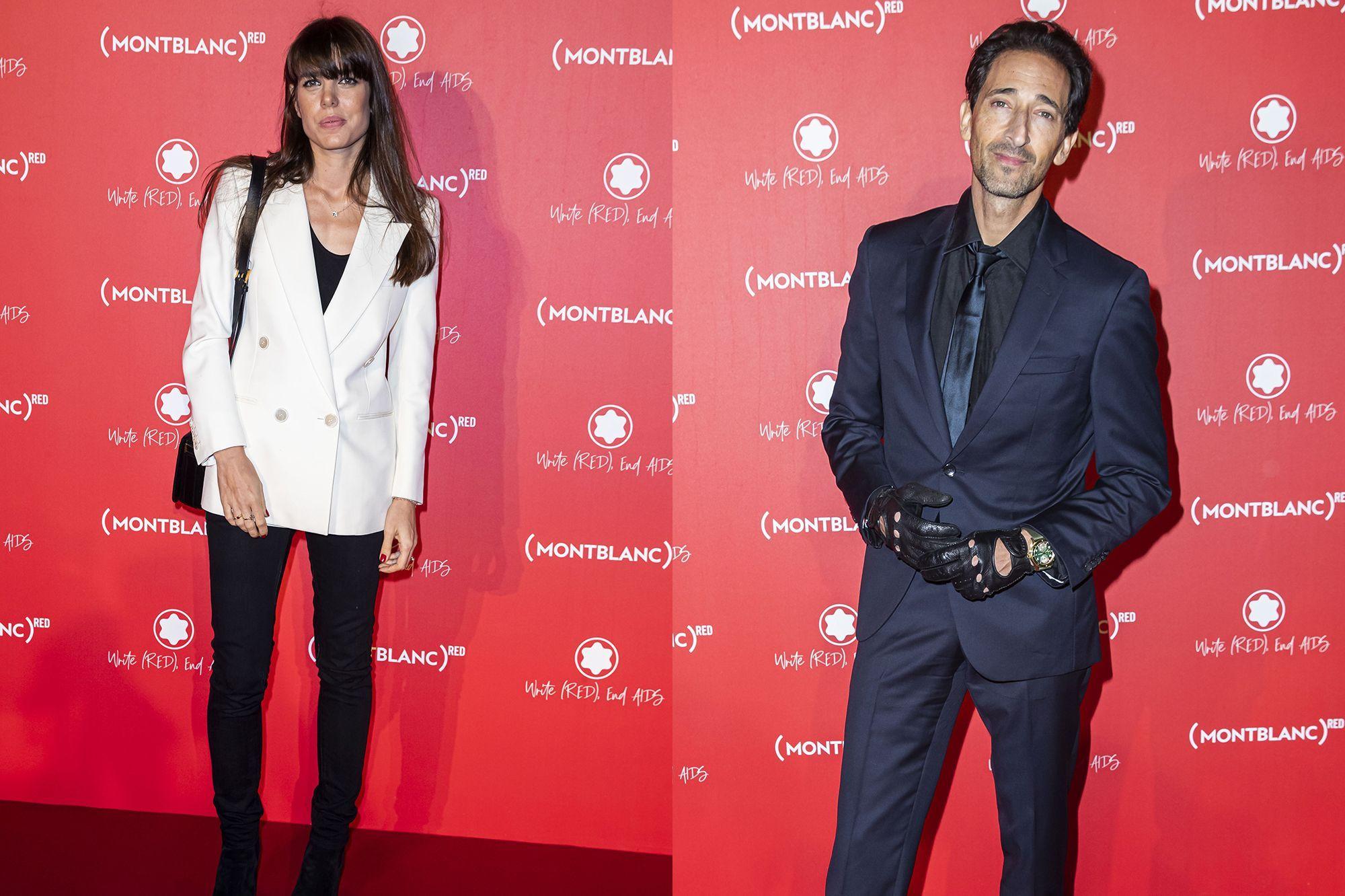 Charlotte Casiraghi et Adrien Brody, duo chic pour Montblanc