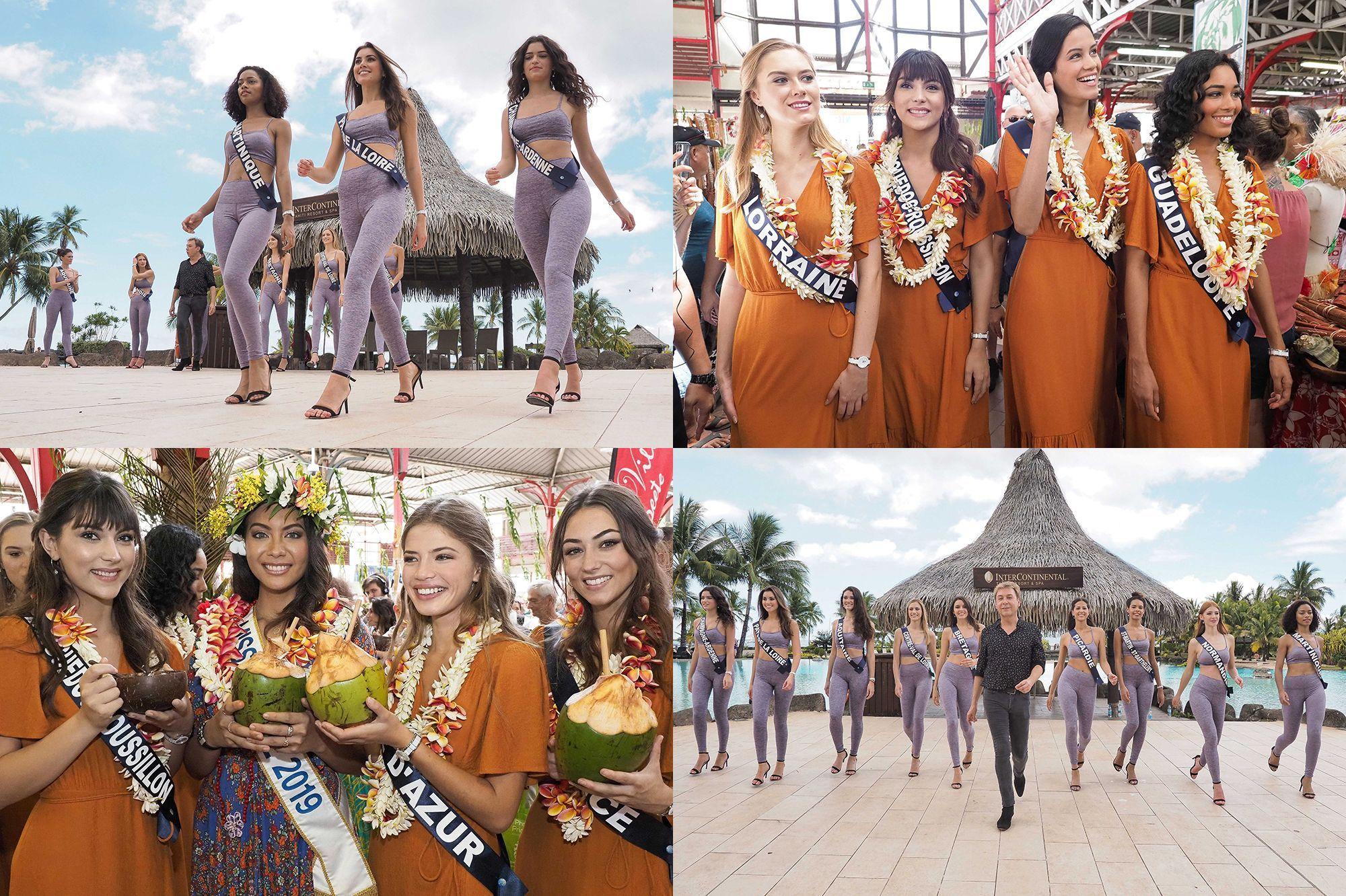 Miss France 2020 : cours de catwalk et visite du marché de Papeete