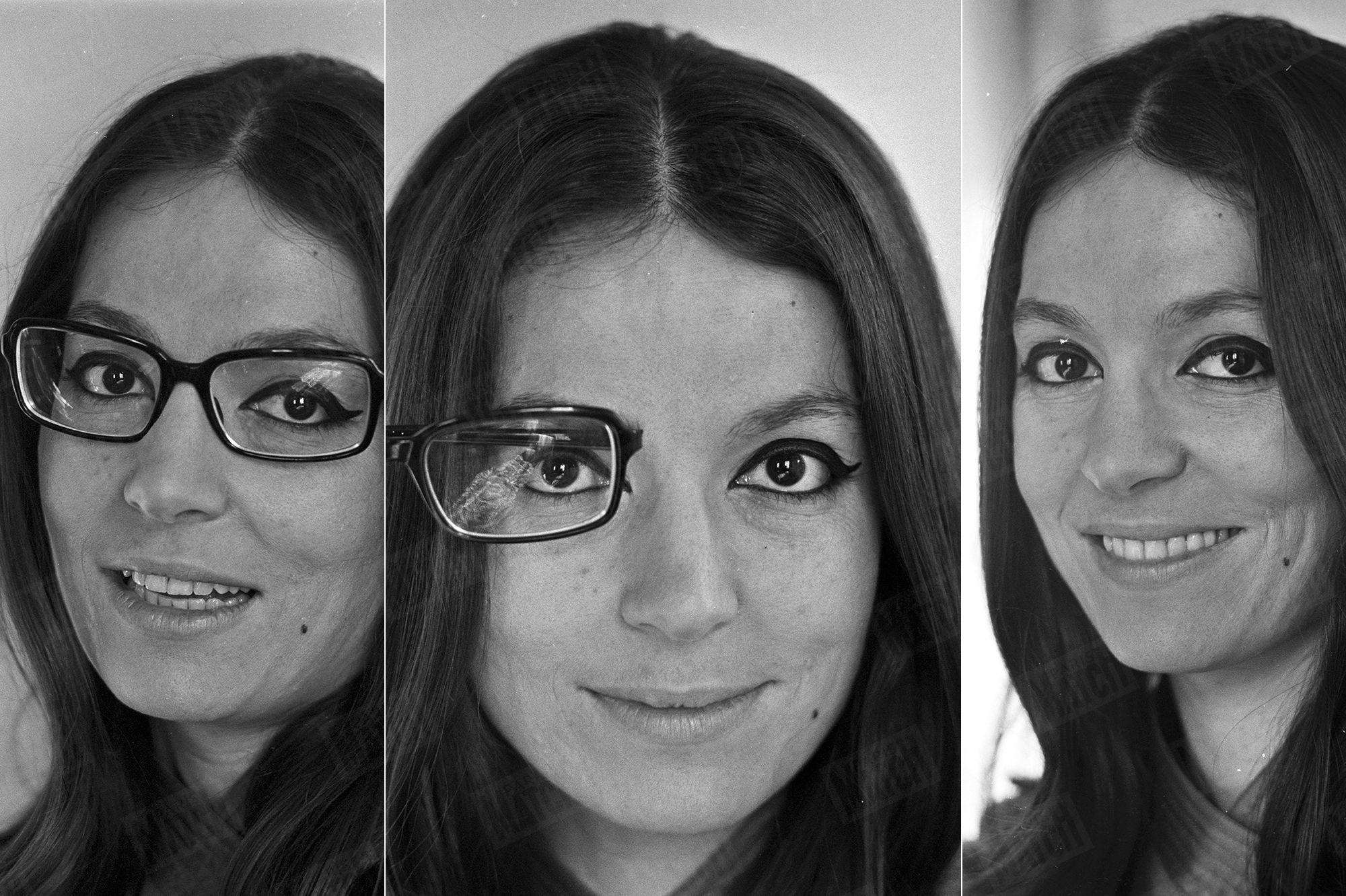 <p>Dans les archives de Match</p>Nana Mouskouri, un premier rendez-vous avec Match… sans lunettes