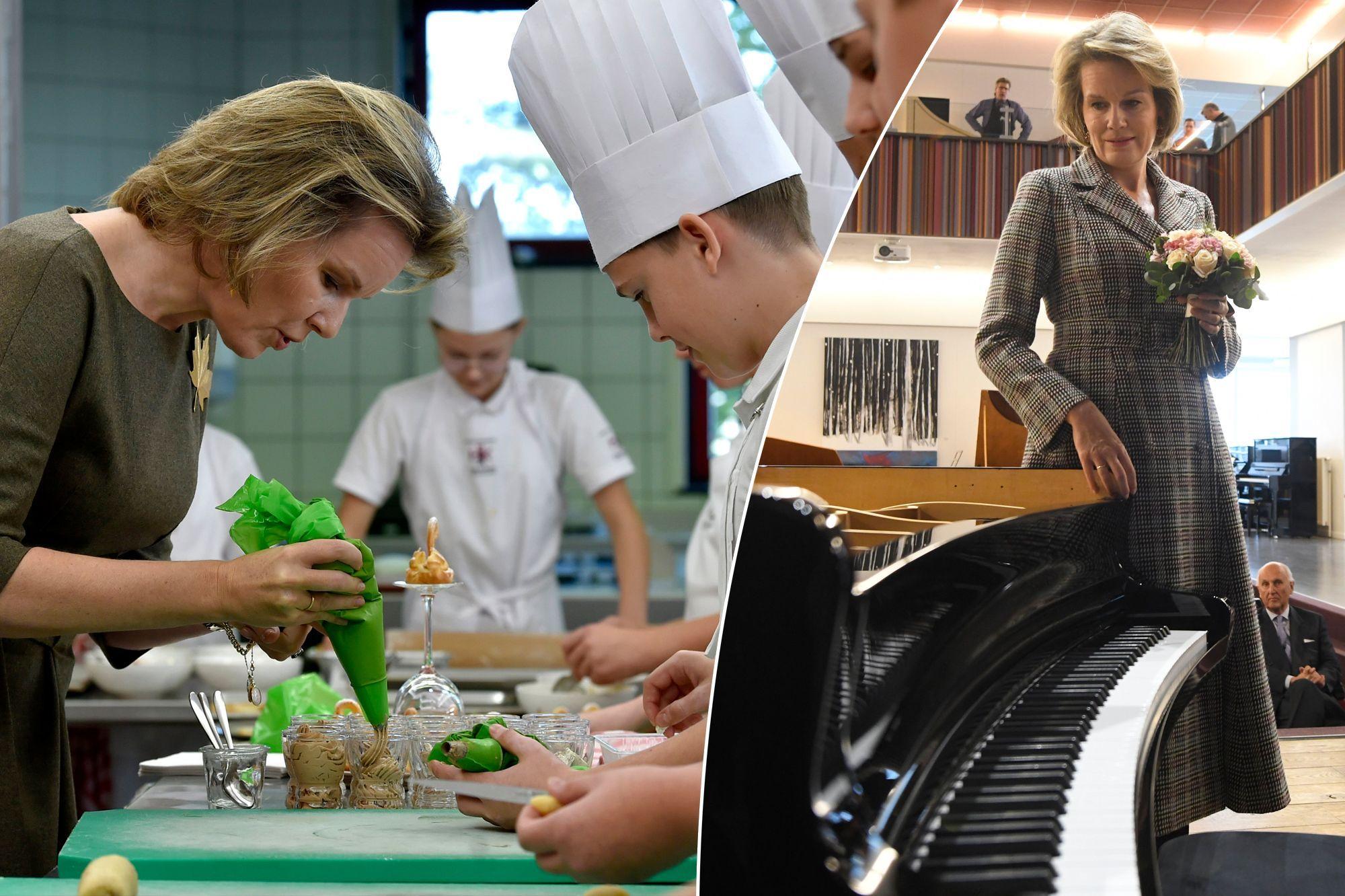 Mathilde passe de la cuisine au piano, du Brexit au sport