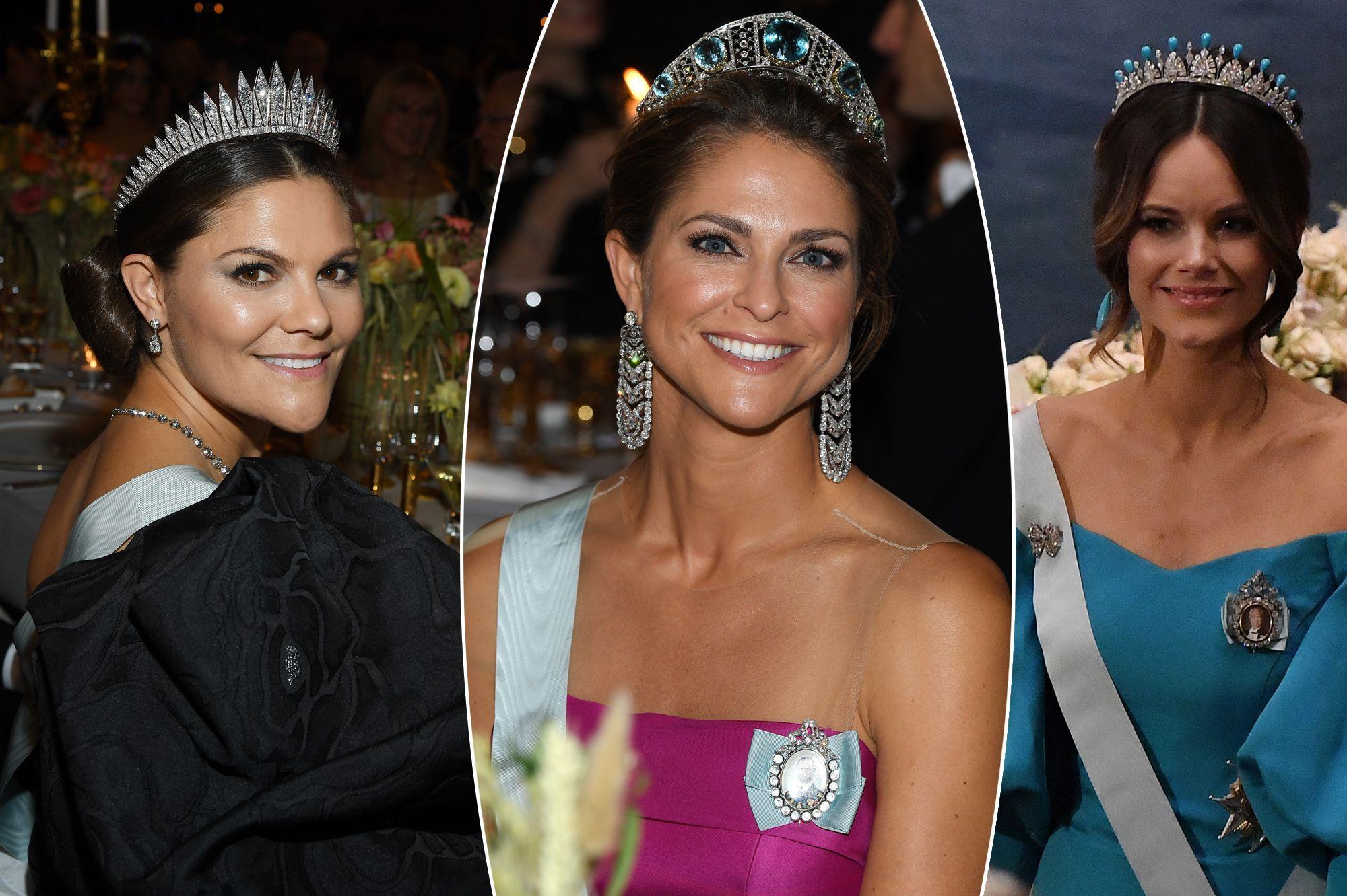 Victoria, Madeleine et Sofia, sublimes pour les Nobel 2019