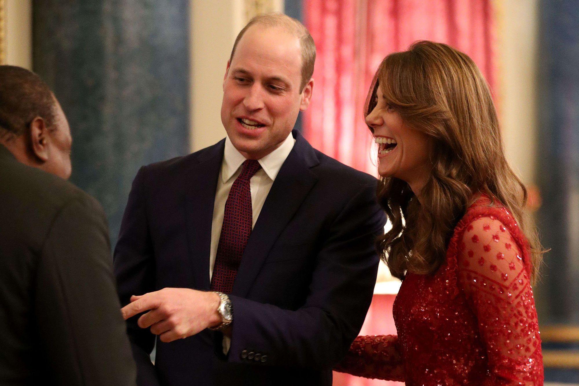 Kate et William tout sourires à Buckingham Palace