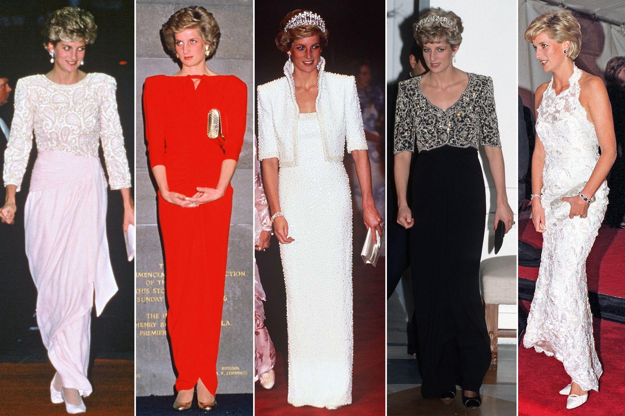 Royal Style Lady Diana En 28 Robes Du Soir