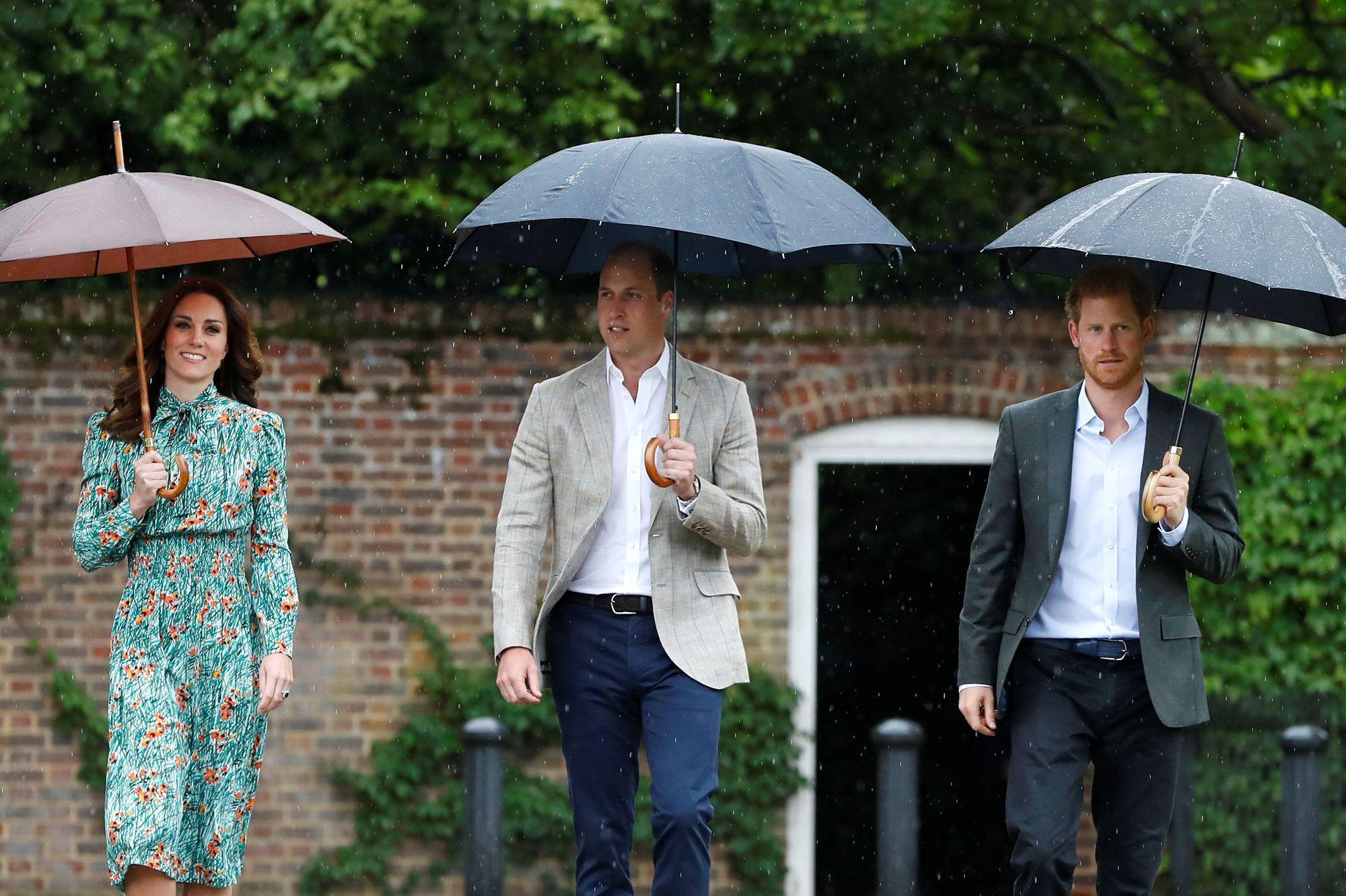 Diana : l'hommage d'Harry, William et Kate