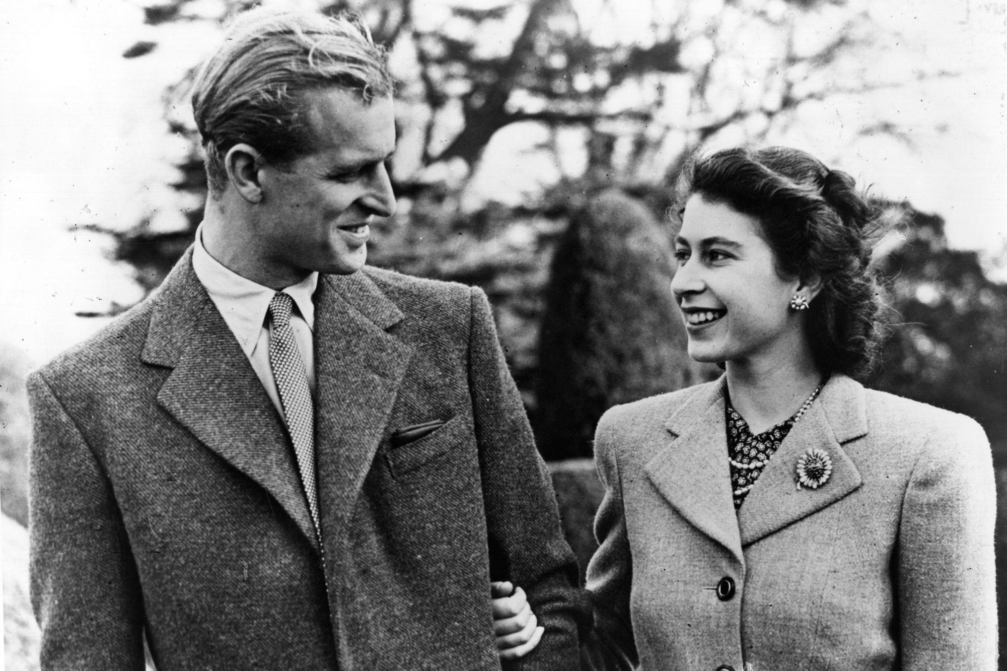 Reine Elizabeth II et prince Philip, une photo de leur lune de miel pour leurs 73 ans de mariage