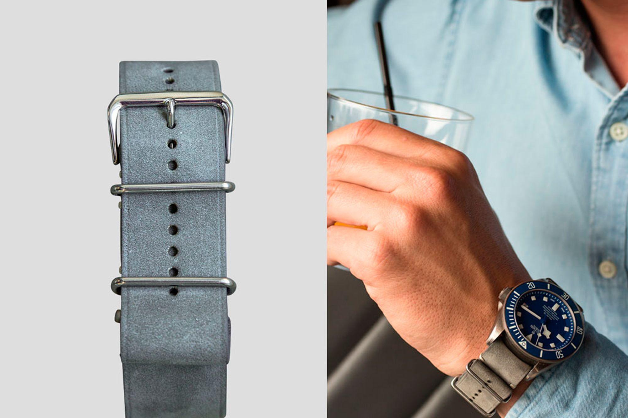 Bracelet montre cuir vert joseph bonnie 2 Joseph Bonnie