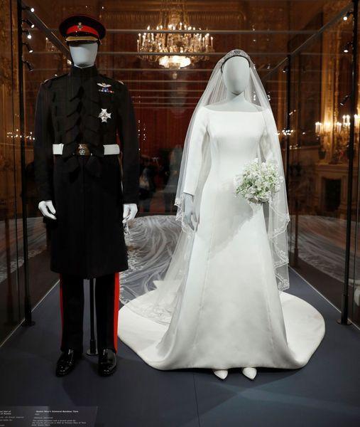 La robe de mariée de Meghan Markle exposé
