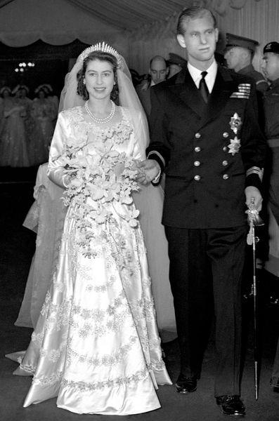 Les robes de mariée des Windsor  Elizabeth II, Diana, Kate