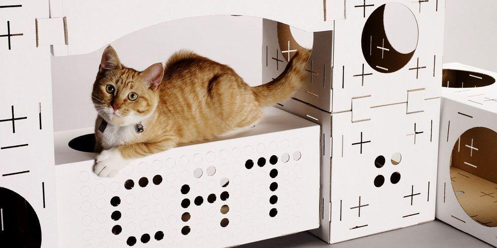 pour les chats curieux blocks la maison de jeu monter. Black Bedroom Furniture Sets. Home Design Ideas