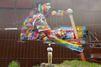 Un artiste peint le plus grand graffiti du monde