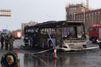 Un bus part en fumée en Chine