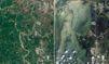 La Thaïlande sous les eaux, avant/après