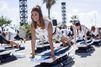 Le surf set fitness, un nouveau sport présenté par Oysho