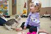 Un chaton à trois pattes pour une fillette amputée