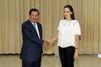 Au Cambodge pour la préparation de son film