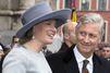 Mathilde et Philippe à la messe des défunts, sans Albert II