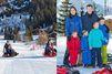 Mary, Frederik et les enfants à la neige