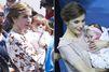 Letizia craque pour les bébés des îles Canaries