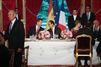 Au diner de l'Élysée pour le couple royal d'Espagne