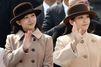 Mako et Kako assorties pour dire au revoir à Akihito et Michiko