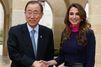 Rania et Abdallah reçoivent Ban Ki-moon
