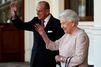 Elizabeth et Philip ont quitté Londres en hélicoptère