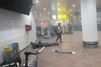 Dans l'aéroport de Bruxelles, quelques instants après l'attentat