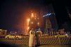 Spectaculaire incendie dans deux tours d'habitation à Ajman