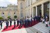Les Bleus accueillis par Hollande à l'Elysée