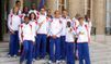 Les médaillées de Barcelone à l'Elysée