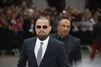 Leonardo DiCaprio, barbu pour Armani à Milan