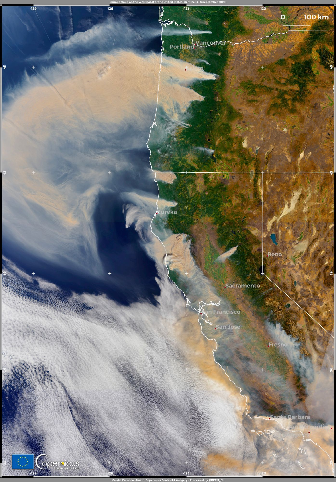 Incendies dans l'Ouest des Etats-Unis - 8 septembre