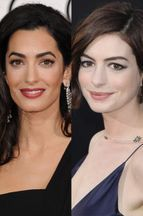 Anne Hathaway, première fan d'Amal Clooney