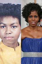 Michelle Obama en 15 coupes de cheveux