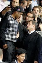 Beyoncé, Jay Z et Nicolas Sarkozy assistent à la victoire du PSG