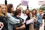 Au Trocadéro, les Françaises en soutien aux lycéennes nigérianes