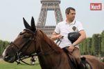 Les cavaliers en selle pour le Paris Eiffel Jumping
