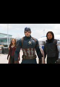 """Scarlet Witch, Captain America et le Soldat de l'Hiver dans """"Captain America: Civil War""""."""