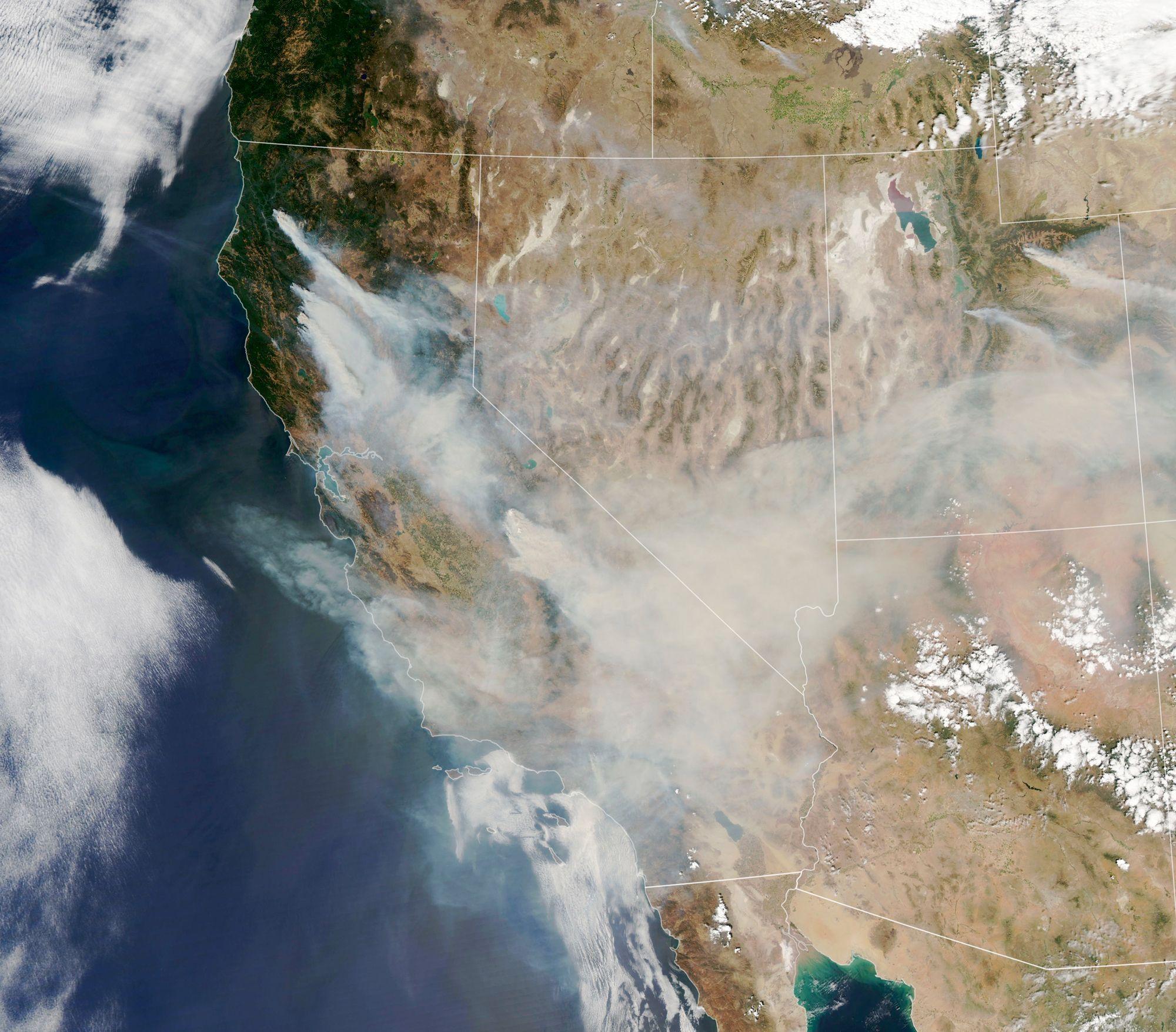 Incendies dans l'Ouest des Etats-Unis - 7 septembre