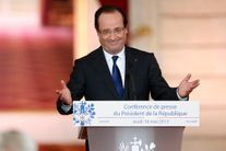 Hollande face aux journalistes