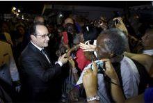 François Hollande en campagne aux Antilles