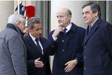 Sarkozy régale les anciens Premiers ministres