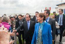 """Royal et Hollande au départ de l'""""Hermione"""""""