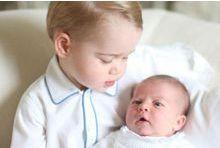 La première photo du prince George et de Baby Charlotte