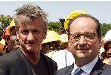 Pourquoi Sean Penn a pris l'avion avec Hollande