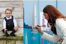 Baby George adore la peinture