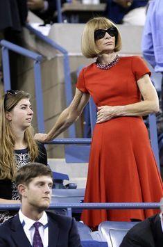 Anna Wintour, Alec Baldwin, Michael Jordan vibrent à l'US Open de tennis